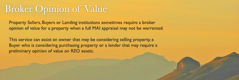 Broker Opinion of Value